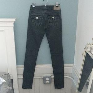 Dark gray true religion jeans